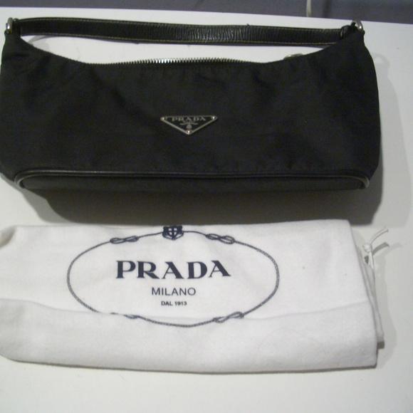 08ff9d79fa AUTHENTIC PRADA BLACK SMALL NYLON HOBO BAG. M 5b665162d6dc52cec08ab0ec